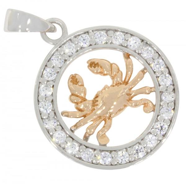 Tierkreiszeichen Anhänger Silber 925, rosévergoldet