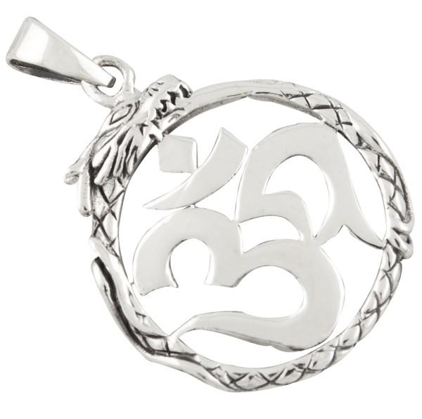 Drachen, Aum, Om, Anhänger Silber 925