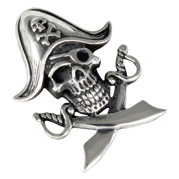 Pirat Skull Totenkopf Anhänger Silber 925
