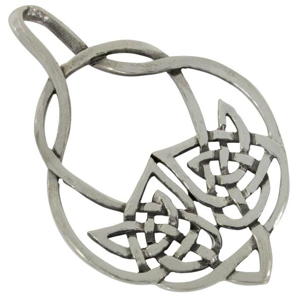 Keltischer Knoten Anhänger Silber 925