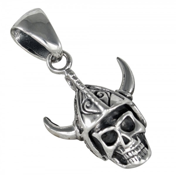 Wikinger Skull, Totenkopf Anhänger Silber 925
