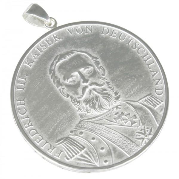 Kaiser Friedrich, Anhänger Silber 925