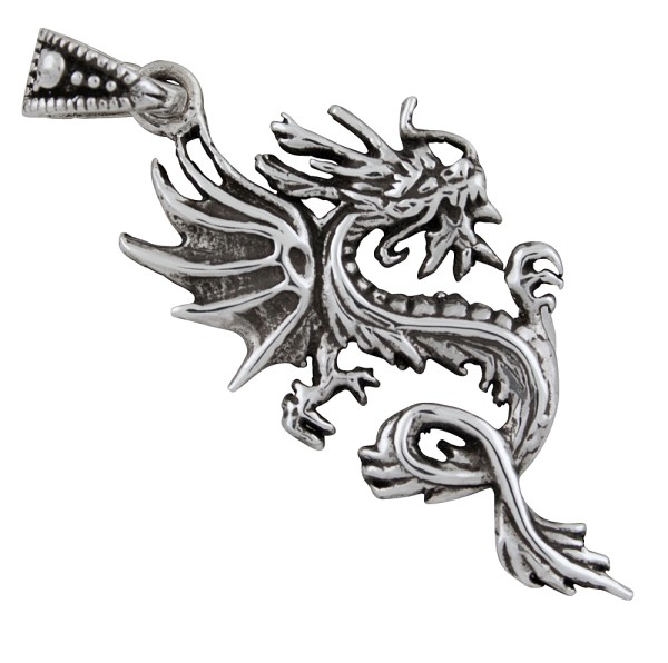 Chinesischer Drachen, Anhänger Silber 925