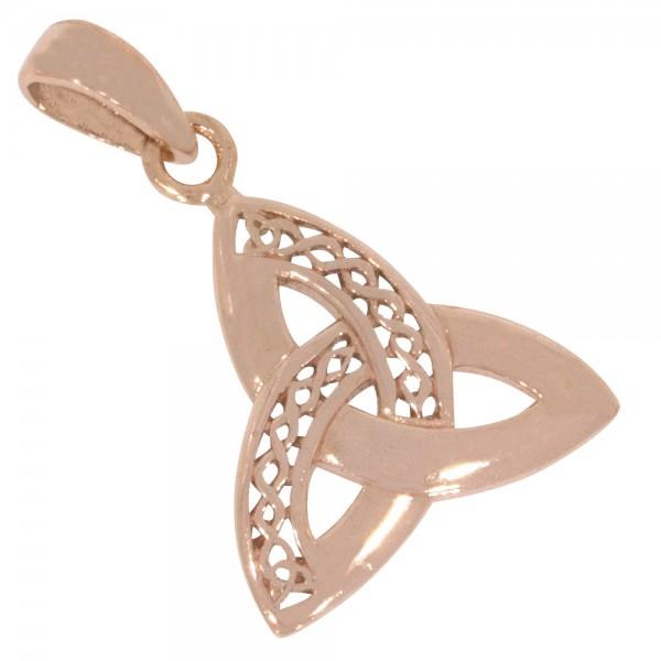 Keltischer Knoten, Anhänger Silber 925 rosévergoldet