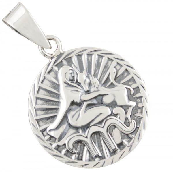 Tierkreiszeichen Sternzeichen Jungfrau, Anhänger Silber 925