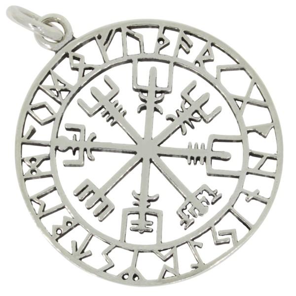 Wikinger Kompass Anhänger Silber 925