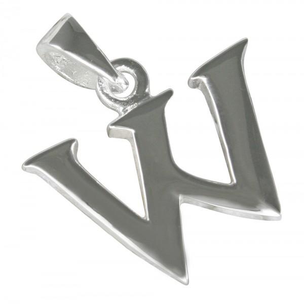 Buchstabe W, Anhänger Silber 925
