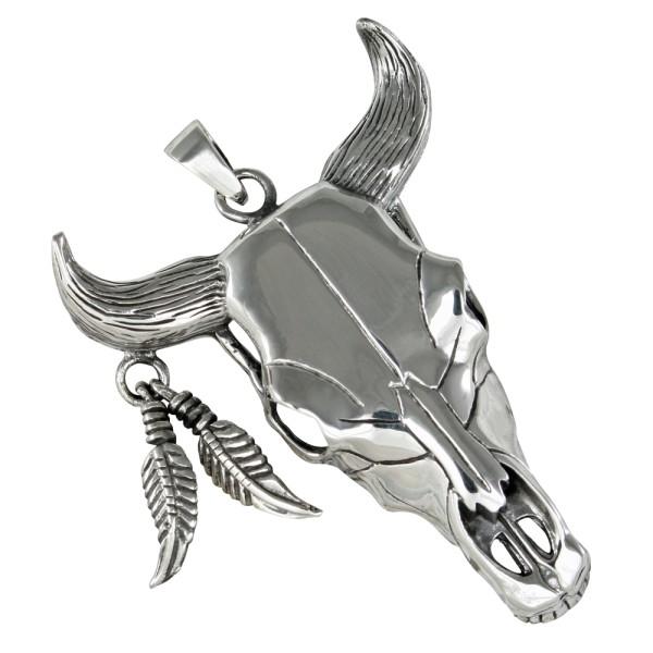Büffelschädel Anhänger Silber 925