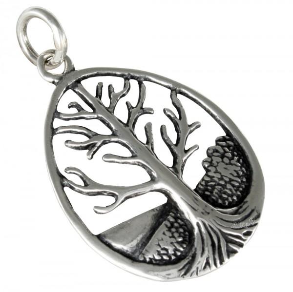 Lebensbaum, Yggdrasil, Anhänger Silber 925
