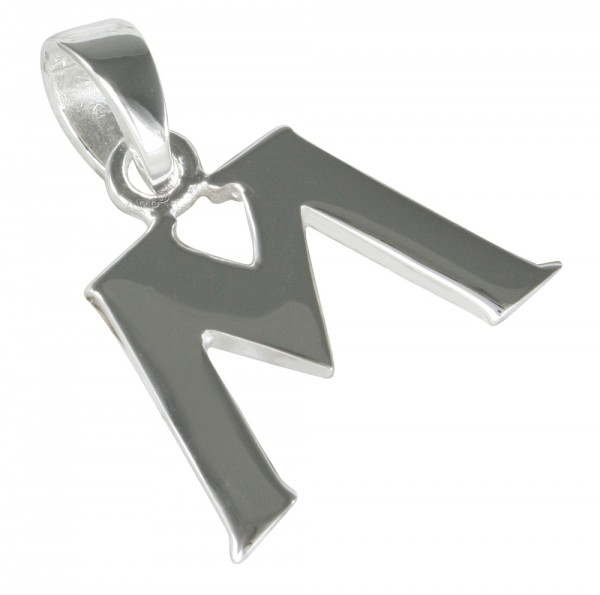 Buchstabe M, Anhänger Silber 925