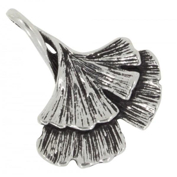 Ginkgoblatt Anhänger Silber 925