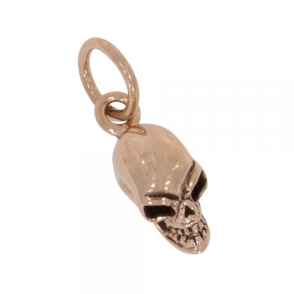 Skull Anhänger Silber 925 rosévergoldet