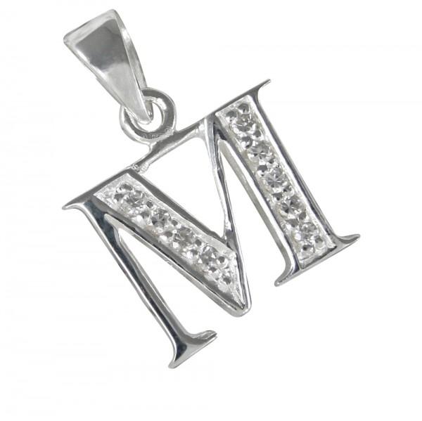 Buchstabe M, Silberanhänger