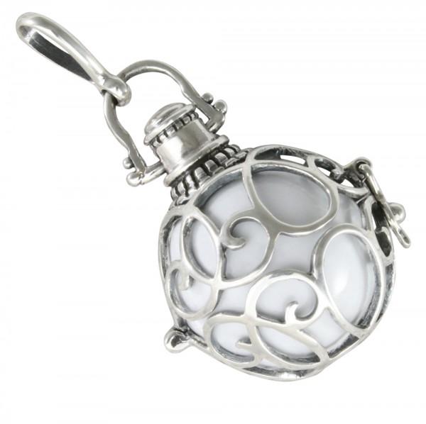 Engelsrufer Anhänger Silber 925 mit weißer Klangkugel