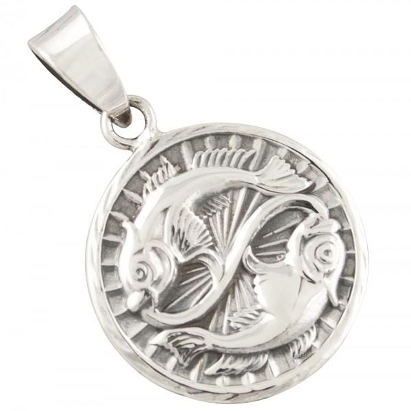 Tierkreiszeichen Sternzeichen Fische, Anhänger Silber 925