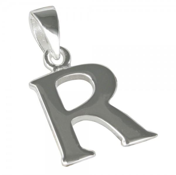 Buchstabe R, Anhänger Silber 925
