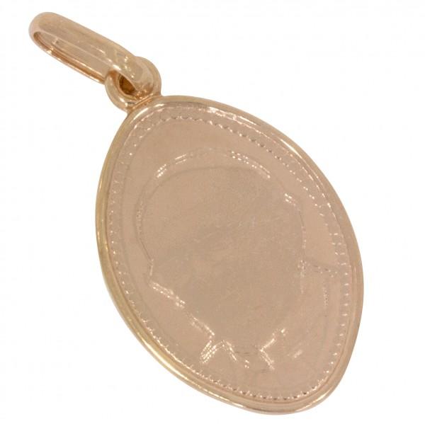 Papst Franziskus, Anhänger Silber 925 rosévergoldet