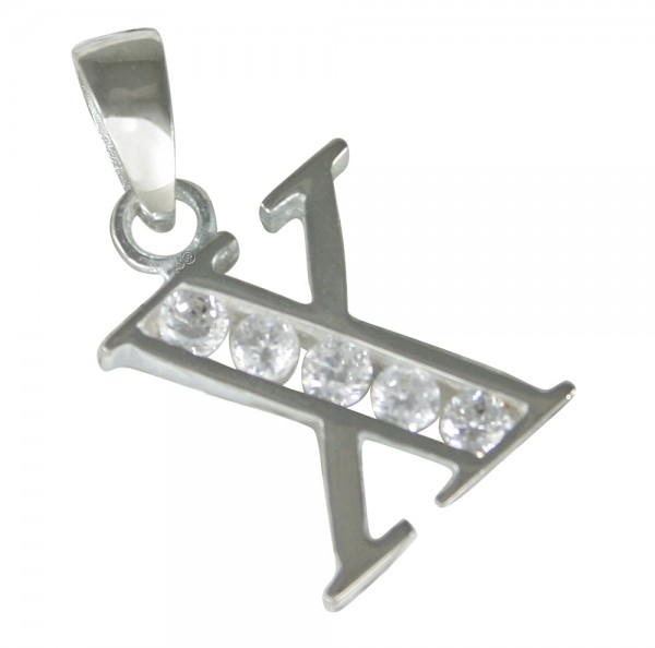 Buchstabe X, Anhänger Silber 925