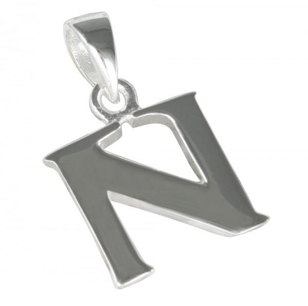 Buchstabe N, Anhänger Silber 925