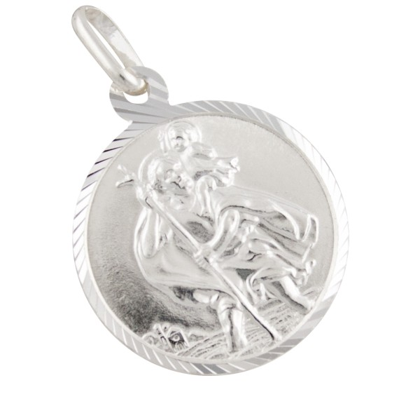 Schutzpatron Christophorus, Anhänger Silber 925