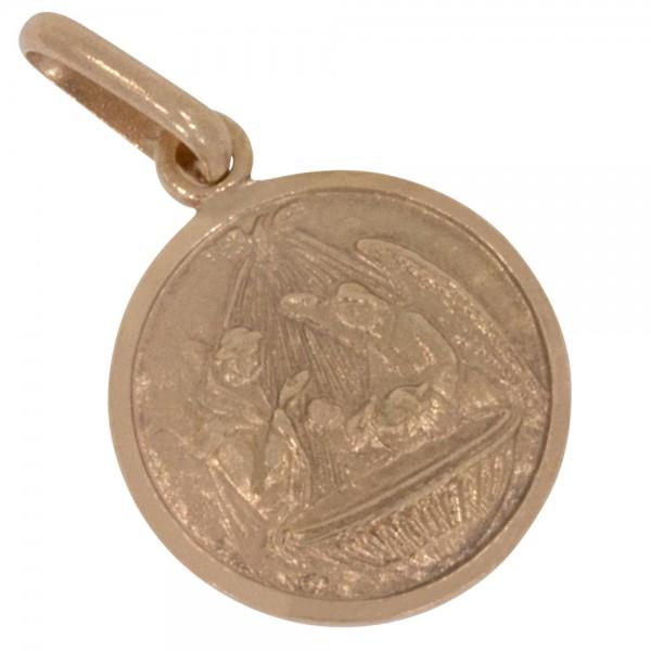 Taufe Anhänger Silber 925 rosévergoldet