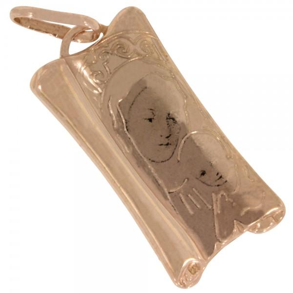 Heilige Maria, Madonna Anhänger Silber 925 rosévergoldet