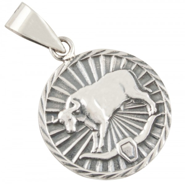 Tierkreiszeichen Sternzeichen Stier, Anhänger Silber 925