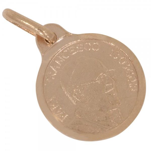 Papst Franziskus Anhänger Silber 925 rosévergoldet