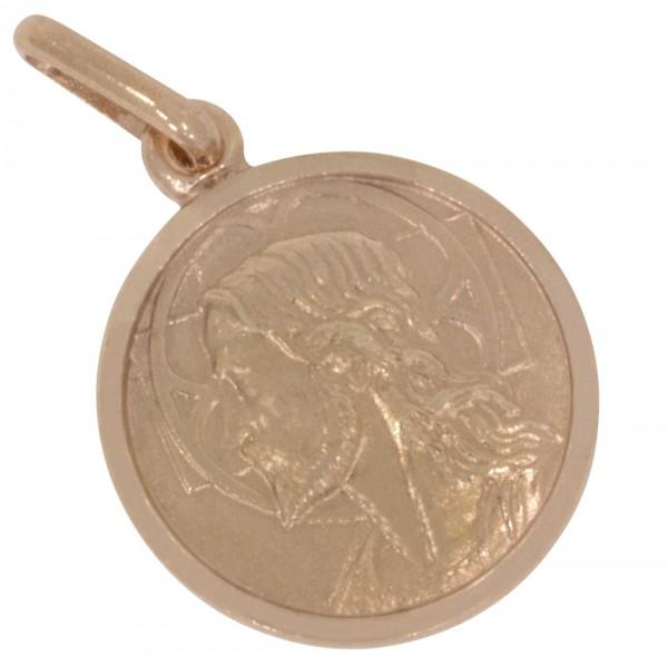 Jesus Christus Anhänger Silber 925 rosévergoldet