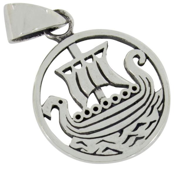 Wikingerboot Anhänger Silber 925