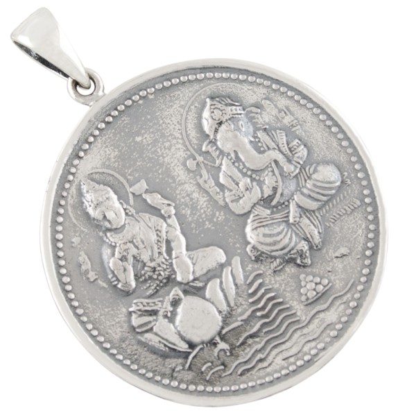 Ganesha Lakshmi Anhänger Silber 925