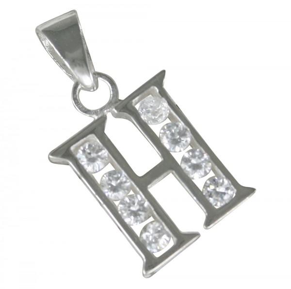 Buchstabe H, Anhänger Silber 925