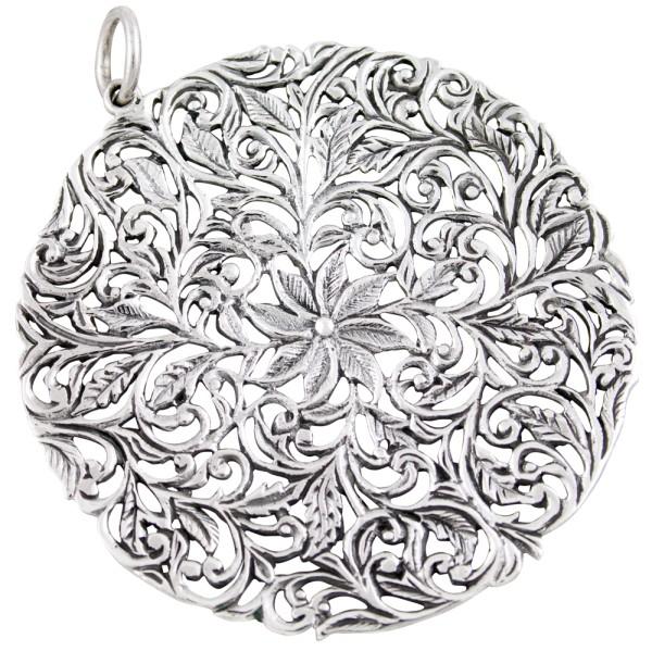 Blumen Blüte, Anhänger Silber 925