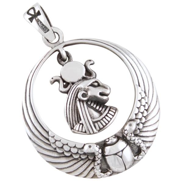 Altägyptische Göttin Tefnut Anhänger Silber 925