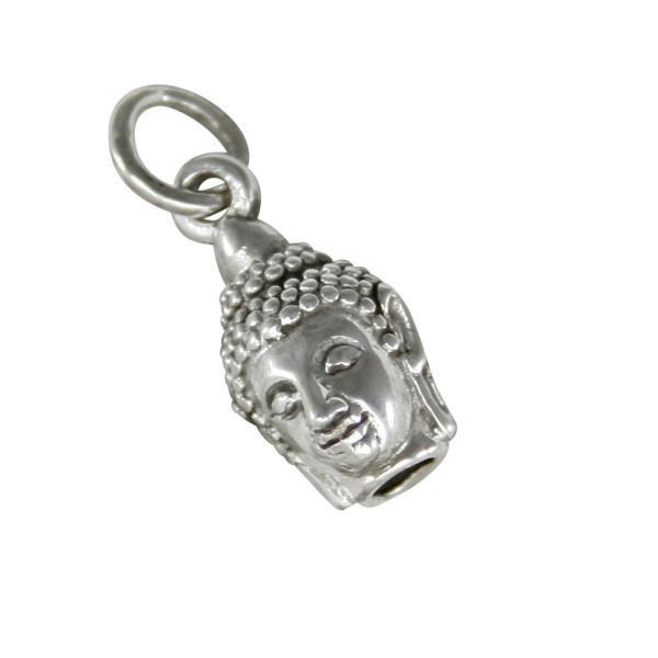Kleiner Buddha Kopf Anhänger Silber 925