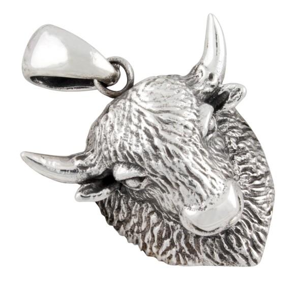 Bisonschädel Anhänger Silber 925