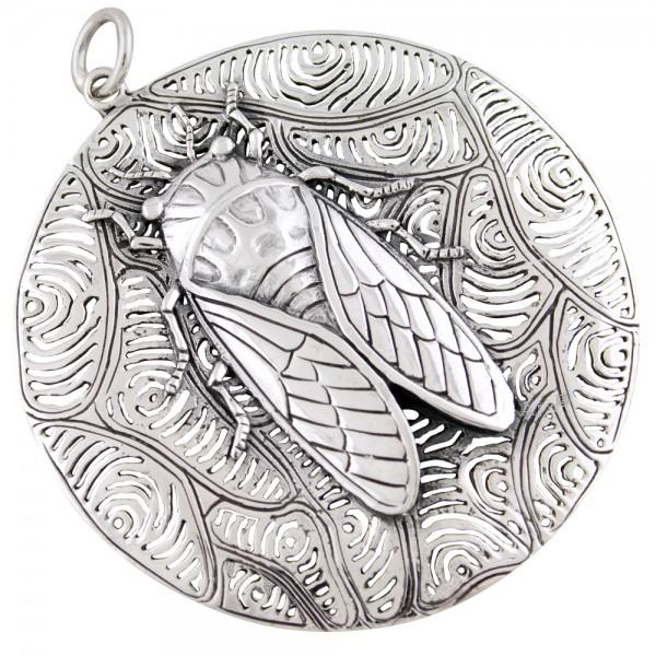 Zikade Anhänger Silber 925