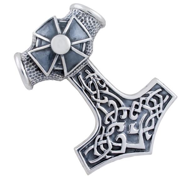 Thorshammer, großer Anhänger Silber 925