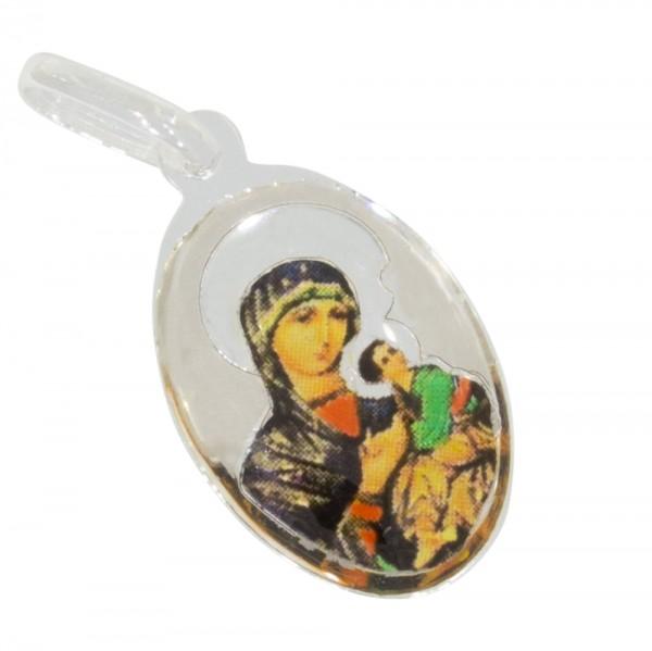 Heilige Maria mit Christuskind, Anhänger Silber 925