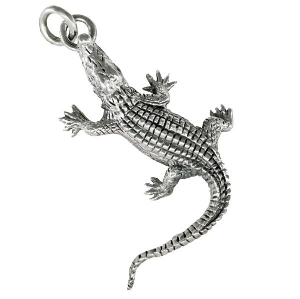 Krokodil Anhänger Silber 925