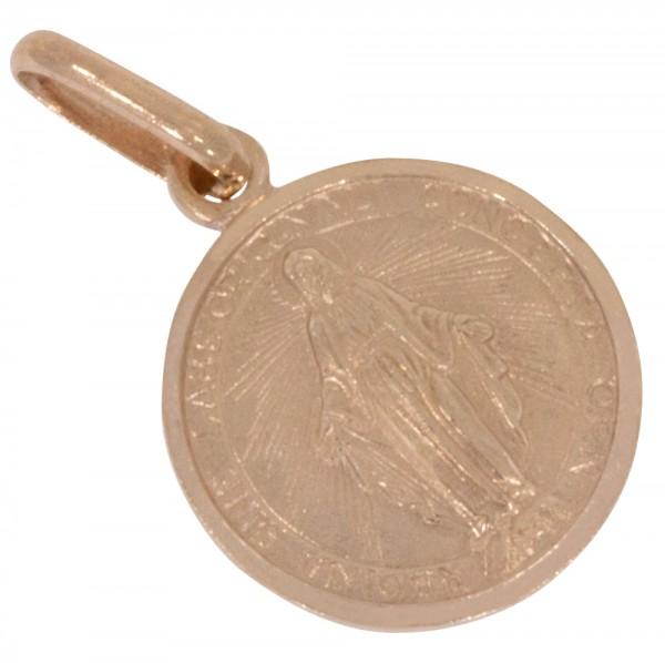 Heilige Maria, Anhänger Silber 925 rosévergoldet
