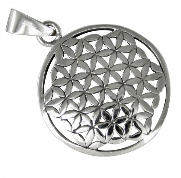Blume des Lebens Anhänger Silber 925, A-B294