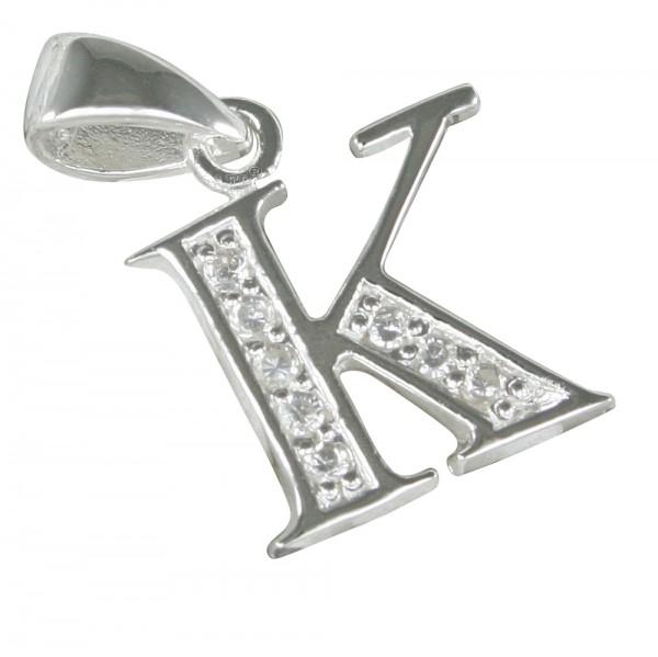 Buchstabe K, Anhänger Silber 925