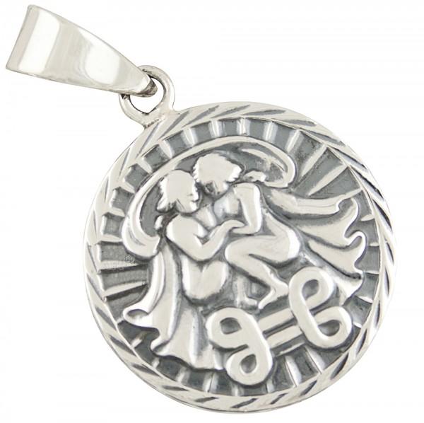 Tierkreiszeichen Sternzeichen Zwilling, Anhänger Silber 925