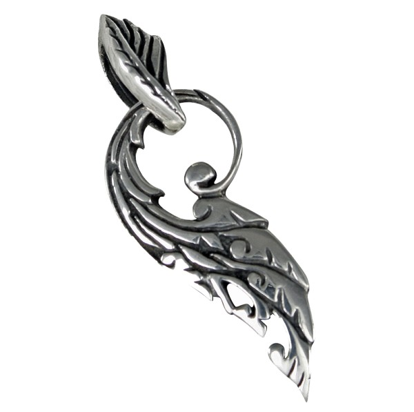 Phönixfeder Anhänger Silber 925