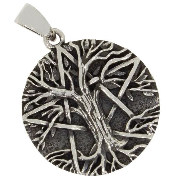 Pentagramm mit Lebensbaum Anhänger Silber 925