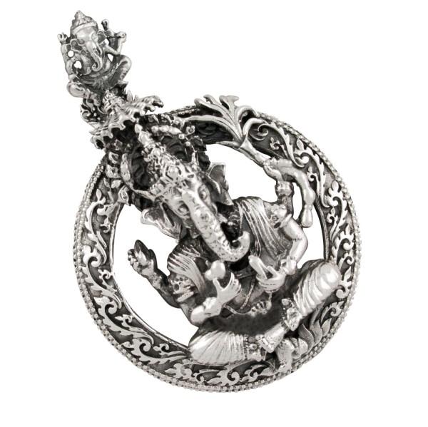 Ganesha großer Anhänger Silber 925
