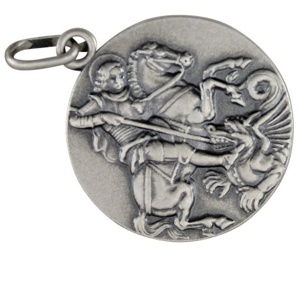 Heiliger Georg Silberanhänger in zwei Größen, A-B399