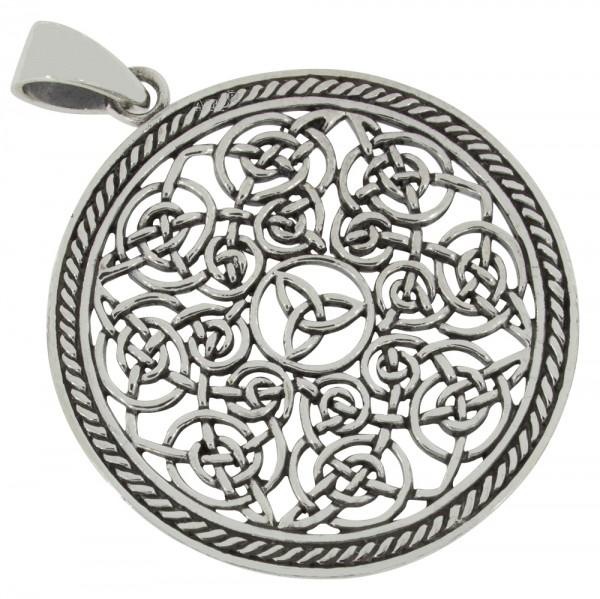 Keltischer Knoten, großer Anhänger Silber 925