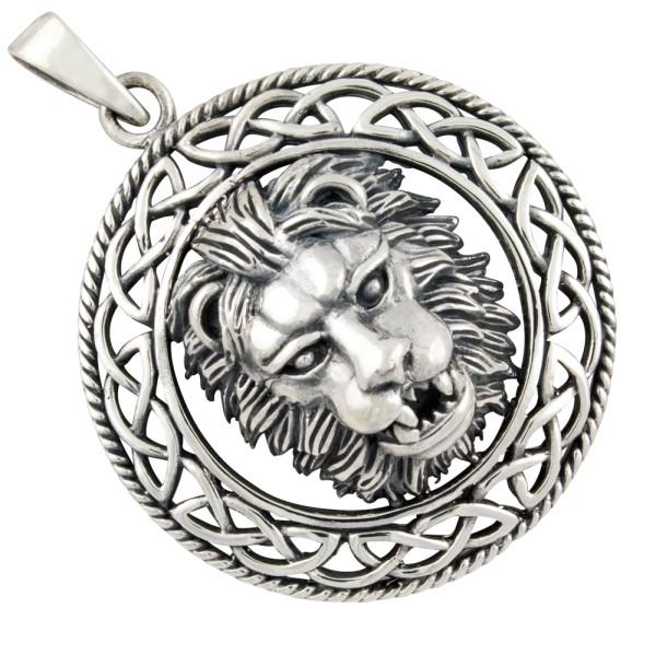 Löwenkopf Anhänger Silber 925
